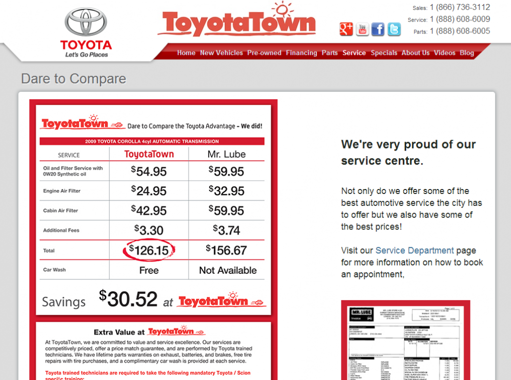 Toyota-Town.com's New Service Area